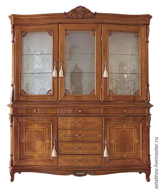 Мебель ручной работы. Ярмарка Мастеров - ручная работа. Купить комплект шкафов витрин в столовую. Handmade. Коричневый, мебель для столовой