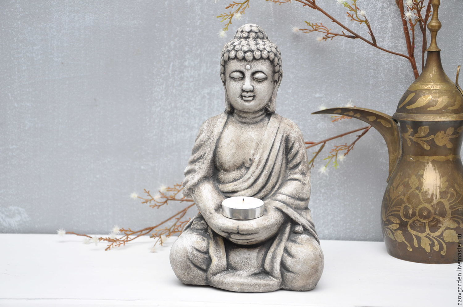 Figurines Handmade. Livemaster   Handmade. Buy Buddha Sculpture For Home  And Garden In Concrete