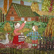 """Картины и панно ручной работы. Ярмарка Мастеров - ручная работа Панно """" Осенний ангел"""". Handmade."""