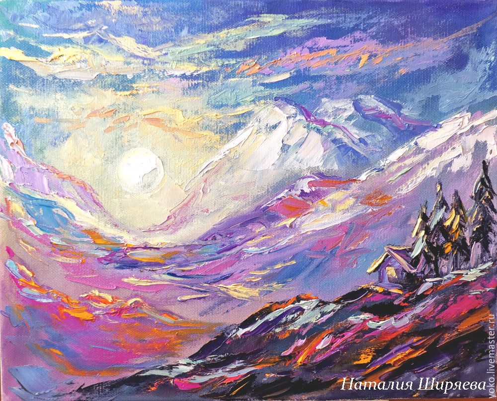 Mystical landscape oil painting 'House facing East', Pictures, Voronezh,  Фото №1