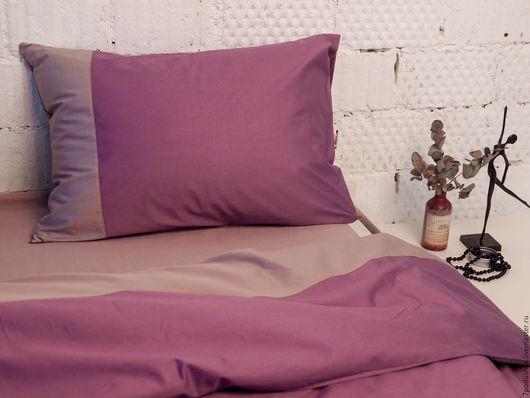 Текстиль, ковры ручной работы. Ярмарка Мастеров - ручная работа. Купить Уникальное постельное белье сатин mix Галактика и Платинум. Handmade.