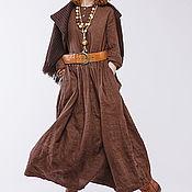 Одежда ручной работы. Ярмарка Мастеров - ручная работа Льняное бохо платье 4-16. Handmade.