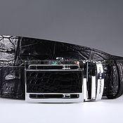 Аксессуары handmade. Livemaster - original item Crocodile leather belt IMA3072B. Handmade.