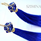Украшения handmade. Livemaster - original item Soutache earrings brush Ultramarine. Handmade.
