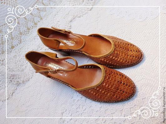 Винтажная обувь. Ярмарка Мастеров - ручная работа. Купить Женские туфли винтаж, Испания. Handmade. Коричневый, кожа натуральная