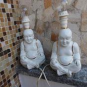 Винтаж ручной работы. Ярмарка Мастеров - ручная работа Два прикроватных светильника Будда  винтаж, Италия. Handmade.