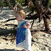 Работы для детей, ручной работы. Ярмарка Мастеров - ручная работа Валяное платье для девочки Кусочек моря. Handmade.