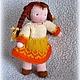 Вальдорфская игрушка ручной работы. вязаная вальдорфская кукла в одежке 18-22см. Alla  (Waldorf doll&toy). Ярмарка Мастеров.