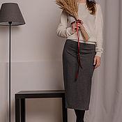 Одежда handmade. Livemaster - original item Straight Jersey skirt. Handmade.