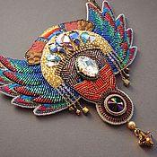 Украшения handmade. Livemaster - original item Necklace PERFUME AMAZON swarovski, beads, silk, sequins. Handmade.