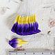 Лепестки желто-синие загнутые My Thai Материалы для флористики из Таиланда
