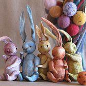 Куклы и игрушки ручной работы. Ярмарка Мастеров - ручная работа зайцы в яйцах. Handmade.