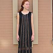 """Одежда ручной работы. Ярмарка Мастеров - ручная работа Платье двухслойное """"Шёлк и Лён"""". Handmade."""
