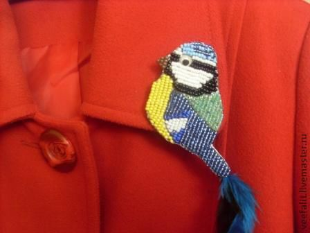 Броши ручной работы. Ярмарка Мастеров - ручная работа. Купить брошь птичка-синичка. Handmade. Брошь, птичка, яркое украшение