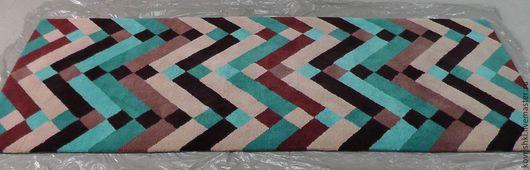 Текстиль, ковры ручной работы. Ярмарка Мастеров - ручная работа. Купить Графика. Handmade. Комбинированный, ковер на пол, ковровая дорожка