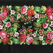 Материалы для творчества ручной работы. Ярмарка Мастеров - ручная работа Старинный ковер лоскут ткани. Handmade.