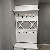 Для дома и интерьера handmade. Livemaster - original item Bergen hanger with shelf. Handmade.