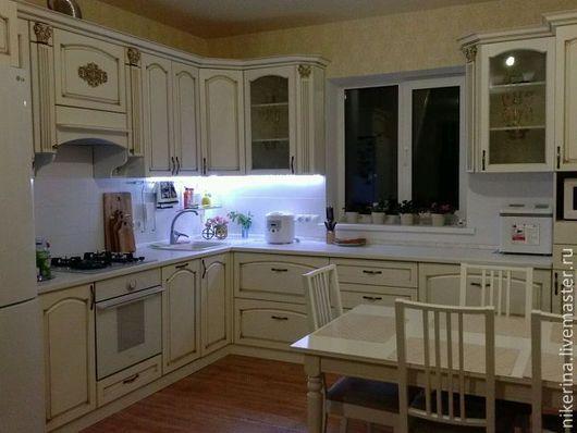 """Мебель ручной работы. Ярмарка Мастеров - ручная работа. Купить Кухня """"Император"""" угловая для частного дома. Handmade. Белый, ЛДСП"""
