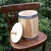 Русский стиль ручной работы. Ярмарка Мастеров - ручная работа Бочонок липовый для мёда и сухих продуктов 5л, вощёный. Handmade.