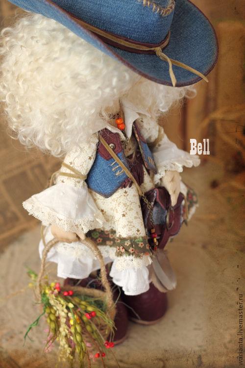 Коллекционные куклы ручной работы. Ярмарка Мастеров - ручная работа. Купить Кукла текстильная. Большеногая девочка. Bell. Handmade. Белый