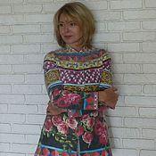 Одежда ручной работы. Ярмарка Мастеров - ручная работа Жакет валяный из мериносовой шерсти Майолика. Handmade.