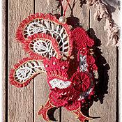 Подарки к праздникам ручной работы. Ярмарка Мастеров - ручная работа Кружевной петух- символ 2017 года. Handmade.