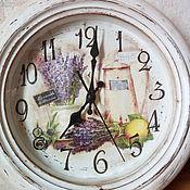 Для дома и интерьера ручной работы. Ярмарка Мастеров - ручная работа Часы Лаванда. Handmade.
