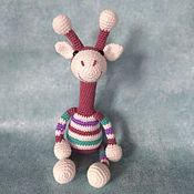 Мягкие игрушки ручной работы. Ярмарка Мастеров - ручная работа Жираф Гоша мягкая игрушка крючком жираф вязаный. Handmade.