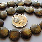 Материалы для творчества ручной работы. Ярмарка Мастеров - ручная работа Плоские бусины-монеты из натурального перламутра. Handmade.