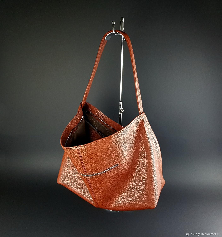Women's leather bag. Medium shoulder bag, Sacks, St. Petersburg,  Фото №1