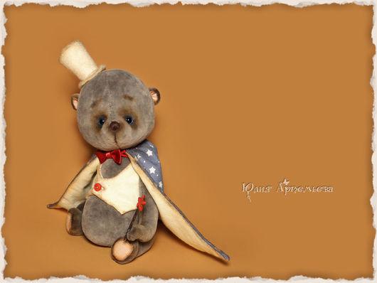 Мишки Тедди ручной работы. Ярмарка Мастеров - ручная работа. Купить Мишка тедди Маленький фокусник. Handmade. Серый, цирк
