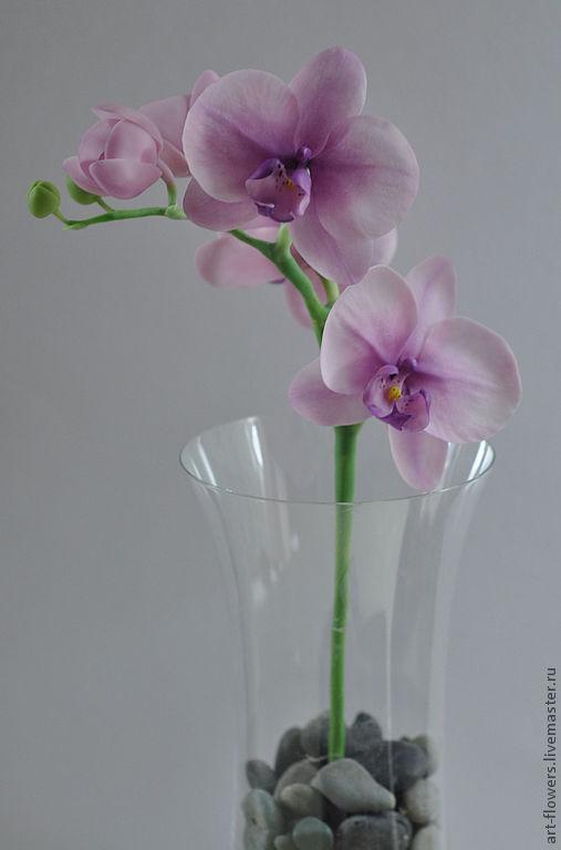 Интерьерные композиции ручной работы. Ярмарка Мастеров - ручная работа. Купить Фиолетовая орхидея (орхидея, холодный фарфор). Handmade.