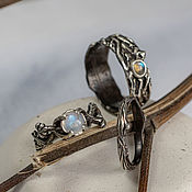 handmade. Livemaster - original item Silver wedding rings