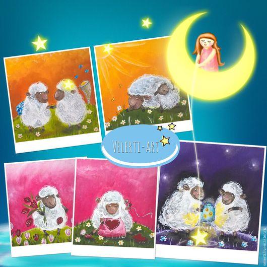 Текстильный купон:`Солнечные Овечки`
