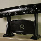 Для дома и интерьера ручной работы. Ярмарка Мастеров - ручная работа Ножны и подставка  для японского ножа айкути. Роспись. Handmade.