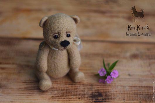Мишки Тедди ручной работы. Ярмарка Мастеров - ручная работа. Купить Мишка с подвижными лапками - валяная игрушка из шерсти. Handmade.