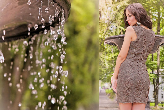 """Платья ручной работы. Ярмарка Мастеров - ручная работа. Купить Платье """"Рим"""". Handmade. Вязаное платье, нарядное платье"""