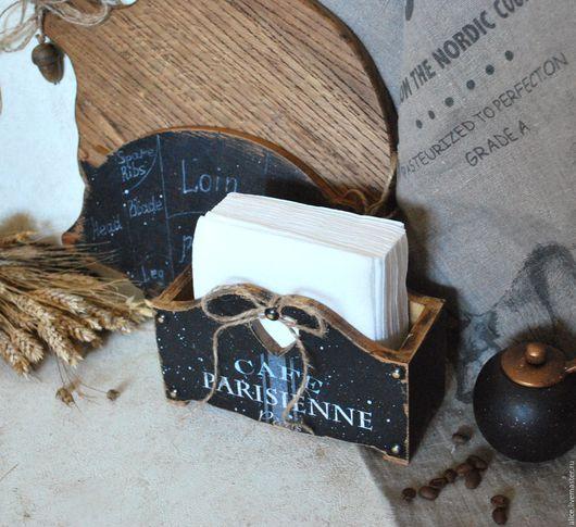 Кухня ручной работы. Ярмарка Мастеров - ручная работа. Купить Parisienne салфетница. Handmade. Черный, кухонный интерьер, подставка