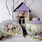 Для дома и интерьера ручной работы. Ярмарка Мастеров - ручная работа Набор чайный Цветочный. Handmade.