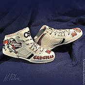 "Обувь ручной работы handmade. Livemaster - original item Painting shoes. Sneakers ""DJ Godzilla"". Handmade."