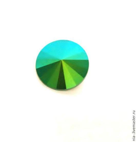 Для украшений ручной работы. Ярмарка Мастеров - ручная работа. Купить Риволи Сваровски 12 мм Scarabaeus Green. Handmade.