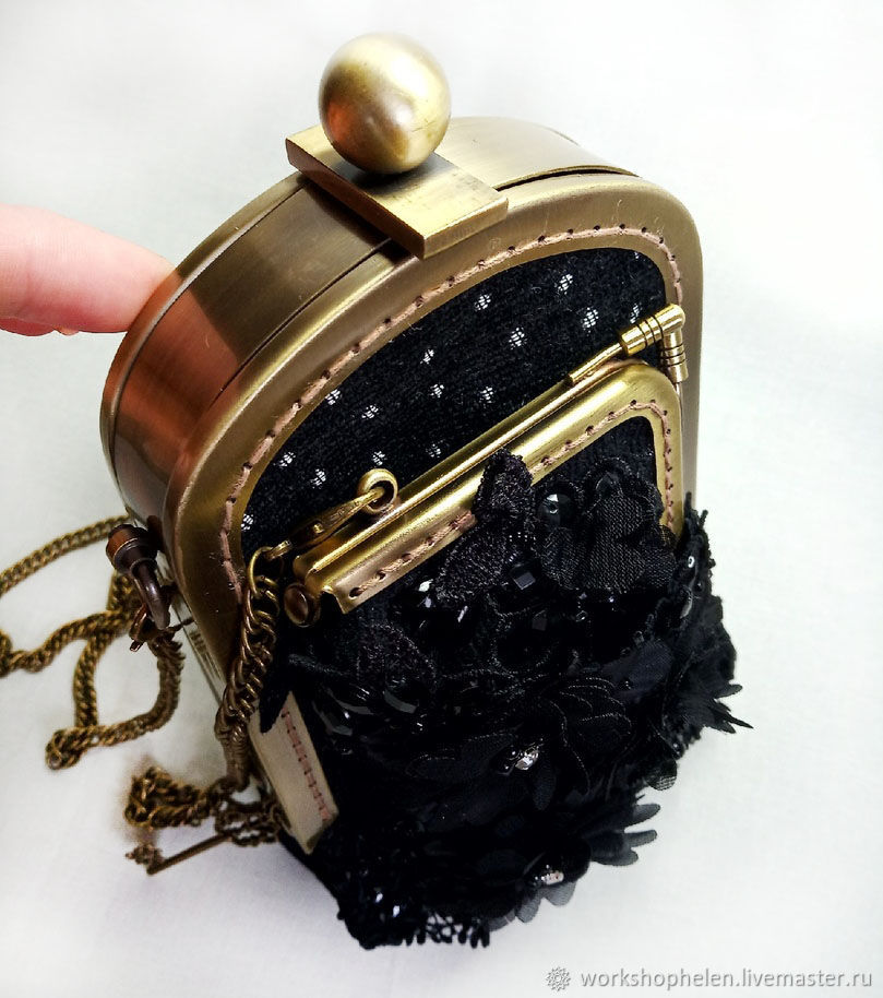 Holder 'Total black' with a purse, Classic Bag, Volgorechensk,  Фото №1