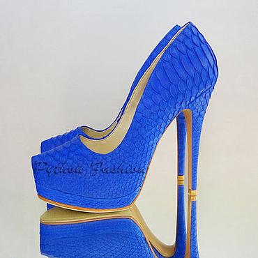 Обувь ручной работы. Ярмарка Мастеров - ручная работа Туфли из питона ODYSSEY. Handmade.