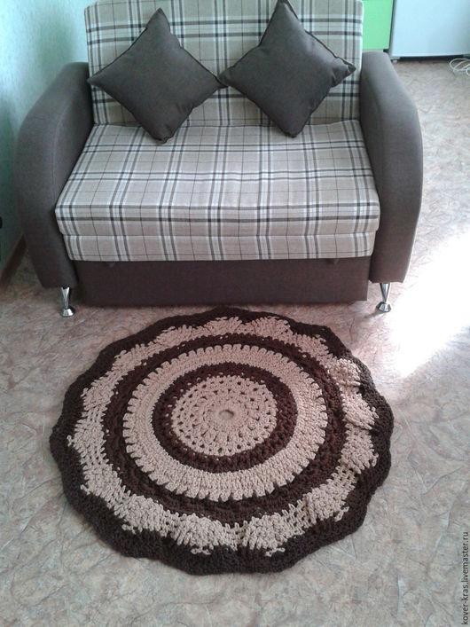 Текстиль, ковры ручной работы. Ярмарка Мастеров - ручная работа. Купить Ковер круглый. Handmade. Комбинированный, ковер на пол