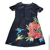 Рисунок на платье акриловыми