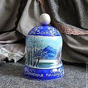 Сувениры и подарки handmade. Livemaster - original item Bell Krasnaya Polyana original painting. Handmade.