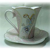 "Посуда ручной работы. Ярмарка Мастеров - ручная работа Чайная пара ""Моему ангелу"". Handmade."