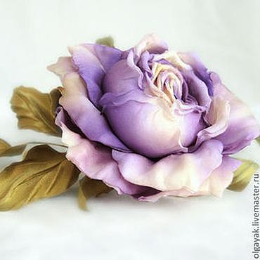 Украшения ручной работы. Ярмарка Мастеров - ручная работа Сиреневая роза. Handmade.