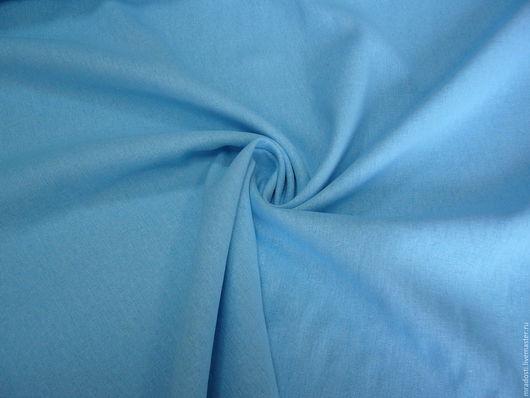 Шитье ручной работы. Ярмарка Мастеров - ручная работа. Купить Лен 100% голубой.. Handmade. Голубой, лён натуральный