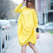 Одежда handmade. Livemaster - original item Bright, fashionable tunic of gabardine - TU0506GA. Handmade.
